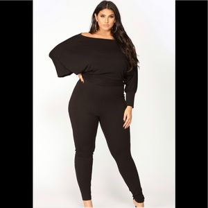 Fashion Nova  off shoulder lounger  jumpsuit XXL